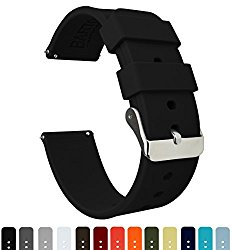 BARTON Silicone Watch Bands – Quick Release Straps – Choose Color & Width – 16mm, 18mm, 20mm or 22mm – Soft Rubber
