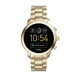 Fossil Q Men's Explorist Gen 3 Gold-Tone Stainless Steel Touchscreen Smartwatch FTW4010