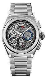 Zenith Mens Defy El Primero 21 44mm Titanium Skeleton Watch 95.9000.9004/78.M9000