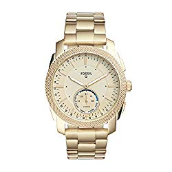 Fossil Q Men's Machine Gold-Tone Stainless Steel Hybrid Smartwatch FTW1167