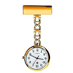 Powshop Nurse Lapel Pin Watch Hanging Medical Doctor Pocket Watch Pin-on Lapel Watch