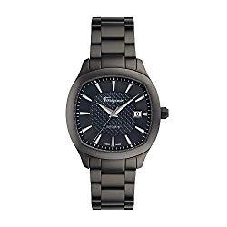 Salvatore Ferragamo Men's 'Ferragamo Time' Swiss Automatic Stainless Steel Casual Watch, Color Black (Model: FFW050017)