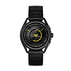 Emporio Armani Men's 'Smartwatch Stainless-Steel-Plated Smart Watch, Color:Black (Model: ART5007)
