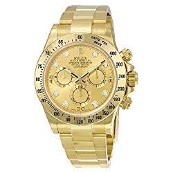 Rolex Daytona Champagne Chronograph 18kt Yellow Gold Mens Watch116528CDO