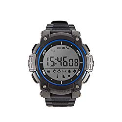 Dobest Smart Watches Mens Sports Bluetooth Watch Pedometer Wearable 30 Meter Diving Waterproof Remote Camera Running Equipment for Android and IOS Black