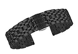 Metal Watch Bracelets Replacement 316L Solid Stainless Steel Straight End