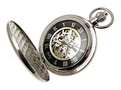 Pocket Watches For Men Gifts For Men Full Hunter Chrome Pocket Watches With Chain