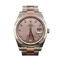 Rolex Datejust Ii 41mm Sundust Diamond Dial Rose Gold And Steel Men's Watch 126331