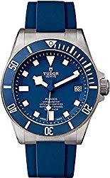 Tudor Pelagos 25600TB on Blue Rubber Strap 42mm Watch