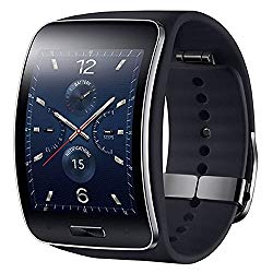 Samsung Gear S SM-R750 (S/K) Curved Super AMOLED Smart Watch (Black) – International Version No Warranty