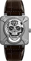 Bell & Ross Instruments BR 01 Laughing Skull 46mm Men's Watch Ref. BR01-SKULL-SK-ST