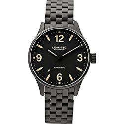 Lum-Tec C7 Automatic Watch | Charcoal Steel Watch Band