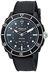 Alpina Men's AL-282LBB4V6 Horological Smart Watch Analog Display Quartz Black Watch