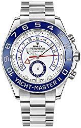 New Rolex Yacht-Master II White Dial Oystersteel Men's Luxury Watch 116680