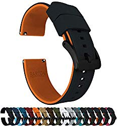 Barton Elite Silicone Watch Bands – Black Buckle Quick Release – Choose Color – 18mm, 19mm, 20mm, 21mm, 22mm, 23mm & 24mm Watch Straps