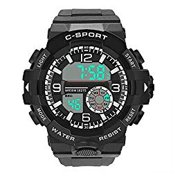 Digital Watches for Men DYTA LED Sport Wrist Watches 5ATM Water Resistant Outdoor Watch Military Quartz Watchs with Rubber Strap Silicone Case Relojes De Hombre Gifts for Men