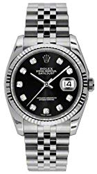Rolex Datejust 36 116234 Black Dial with Diamonds Luxury Watch