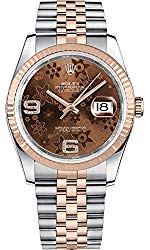 Rolex Datejust 36 Chocolate Dial with Floral Motif Luxury Watch Ref. 116231
