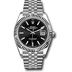 Rolex Oyster Perpetual Datejust Black Dial Jubilee Mens Watch 126334BKSJ