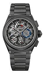 Zenith Mens Defy El Primero 21 44mm Titanium Skeleton Watch 49.9000.9004