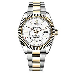 Rolex Sky-Dweller Automatic Men's 18kt Yellow Gold White Dial Oyster Watch 326933wh