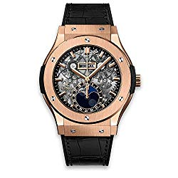 Rose Gold Hublot Classic Fusion Aerofusion Moonphase 45mm Mens Watch 517.OX.0180.LR