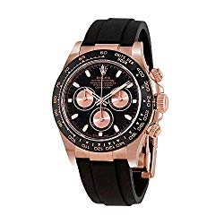 Rolex Cosmograph Daytona Black and Pink Dial Automatic Men's Oysterflex Watch 116515BKPSR