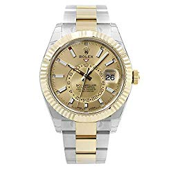 Rolex Oyster Perpetual Sky-Dweller Champagne Dial Automatic Mens Watch 326933CSO