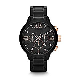 A|X Armani Exchange Atlc Chronograph Black Dial Black Ion-plated Mens Watch AX1350