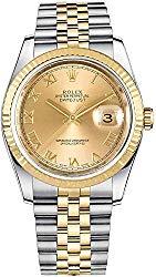 Rolex Datejust 36 Yellow Rolesor Jubilee Bracelet Luxury Watch Ref. 116233