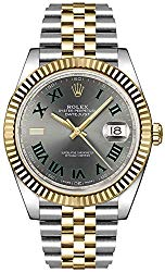 Rolex Datejust 41 Slate Dial Men's Luxury Watch on Yellow Rolesor Jubilee Bracelet 126333