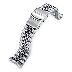Super-J Louis Watch Bracelet for Seiko SKX007 22mm 316L-SS Replacement Band